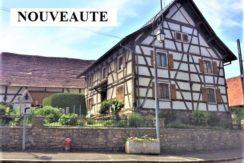 Riespach : Belle maison alsacienne 170m² + grange + 25 ares