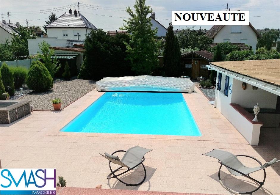 Illzach : maison rénovée  tout confort avec piscine