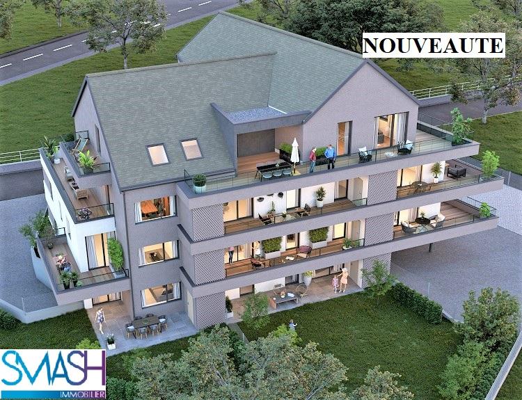 Rosenau : Appartement neuf F3- 77 m² – traversant avec terrasse