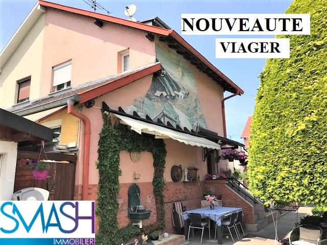 VIAGER à Kingersheim : Maison jumelée + jardin