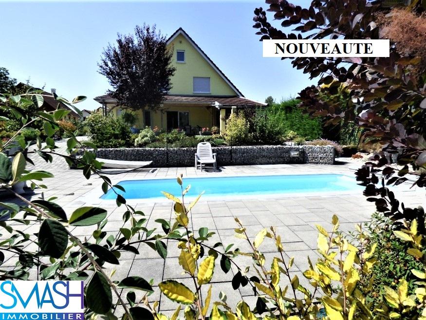 Manspach : Belle maison 220m² – piscine- 12 ares – vue campagne